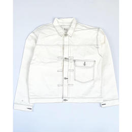 THREE FACE for CSF / denim jacket (white)