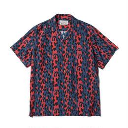 "WACKO MARIA /  ""LEOPARD"" S/S HAWAIIAN SHIRT (type-1,blue-red)"