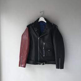 THREE FACE / black eddie Riders Jacket