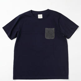 VIRI-DARI deserta ( ヴィリダリデセルタ ) Pocket T-Shirt Navy