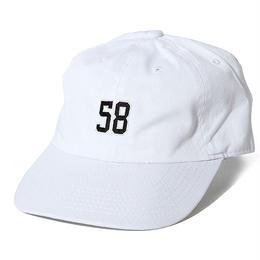"OKINAWAMADE™""58""刺繍コットンキャップ(ホワイト)"