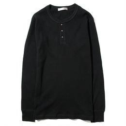 YOSHIDAROBERTO™ワッフルコットンロングTシャツ(ブラック)