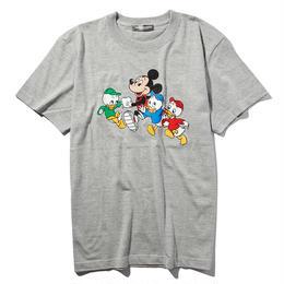 マラソンミッキーマウス&ヒューイ&デューイ&ルーイTシャツ(グレー)