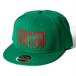OKINAWAMADE™バーコード刺繍スナップバックキャップ(グリーン)