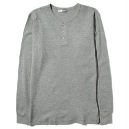 YOSHIDAROBERTO™ワッフルコットンロングTシャツ(グレー)