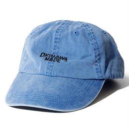 OKINAWAMADE™ピグメント刺繍コットンキャップ(ブルー)