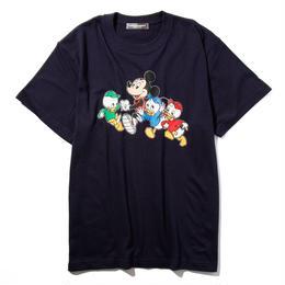 マラソンミッキーマウス&ヒューイ&デューイ&ルーイTシャツ(ブラック)