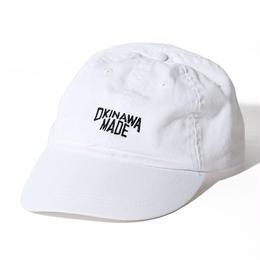 OKINAWAMADE™ピグメント刺繍コットンキャップ(ホワイト)