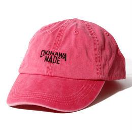 OKINAWAMADE™ピグメント刺繍コットンキャップ(ピンク)