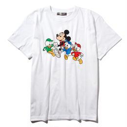 マラソンミッキーマウス&ヒューイ&デューイ&ルーイTシャツ(ホワイト)