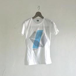 グラフィックTシャツ(伊勢型紙文様)  WHITE