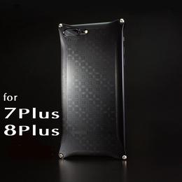 iPhone 8Plus  / 7Plus アルミ削り出しケース【金運七宝 Shippou】BLACK 【送料無料 税込】