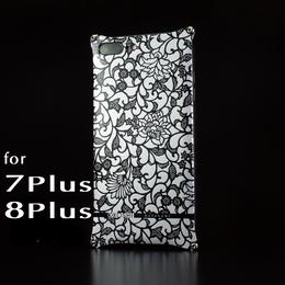 iPhone 8Plus  / 7Plus アルミ削り出しケース【アラベスク 】BLACK【送料無料 税込】