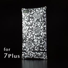 iPhone 7Plus アルミ削り出しケース【アラベスク 】BLACK【送料無料 税込】