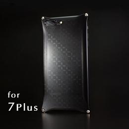 iPhone 7Plus アルミ削り出しケース【金運七宝 Shippou】BLACK 【送料無料 税込】