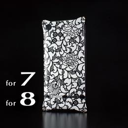 iPhone 8  / 7 アルミ削り出しケース【アラベスク 】BLACK【送料無料 税込】