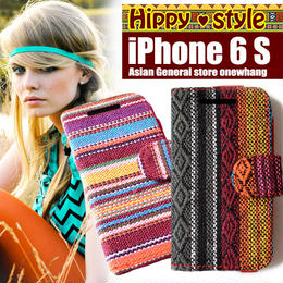 送料無料iphone6 アイフォンケースモン族iphoneケース !コットン素材エスニック柄ヒッピー大絶賛!ハードケースとシリコンケース!手帳型の横開き個性的でおしゃれなスマホ iphone6S