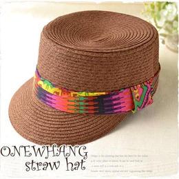 南国でかぶる帽子【tk401】ブラウンケピ帽 !かわいいマリンキャップ !ベージュ帽子!注目の ハット♪夏の麦わら帽子!