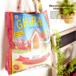 アジアンECOバッグ【aj100】米袋バッグ!米袋をリメイクした究極のエコバッグ!ショルダーバッグなので沢山入ります♪