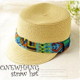 ベージュケピ帽 !かわいいマリンキャップ !ベージュ帽子!注目の ハット♪夏の麦わら帽子!