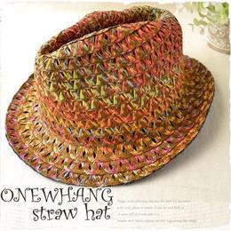 【tk328】ブラウンカラー◆チロリアンハット ♪夏の鉄板ストローハット!メンズ&レディース にも大人気の麦わら帽子