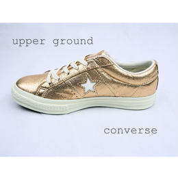 CONVERS ONE STAR METALLIC GOLD 161589C