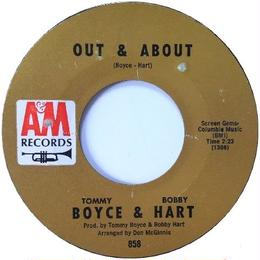 Tommy Boyce & Bobby Hart ‎– Out & About / My Little Chickadee