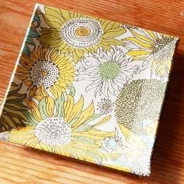 【M'sクラフト】トレーミニ 黄色花(リバティ) O2-0007