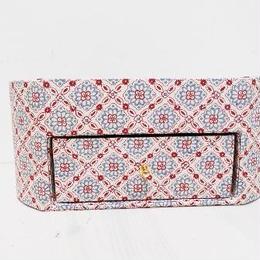 【M'sクラフト】引き出し付マルチBOX ベージュ花(Moda JAPAN) O2-0059