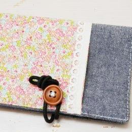 【ああ】カードケース ピンク小花 P17-1210