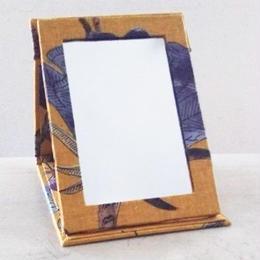 【M'sクラフト】二つ折ミラー カラシ色 O2-0074