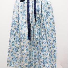 【ああ】リバーシブルギャザースカート ブルーボタニカル P17-1203