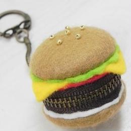 【AuroraDrop】ハンバーガーのマカロンポーチ M6-P017