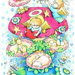 【PoPun.P】ポストカード 天使 S48-315