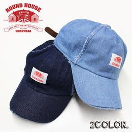 ROUND HOUSE ダメージデニムベースボールキャップ(ユニセックス)
