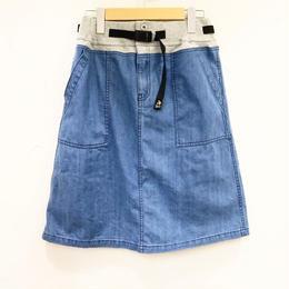 go slow caravan ゴースローキャラバン  DENIM バックサテン刺繍スカート