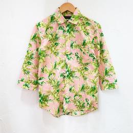 ボタニカル7分袖シャツ