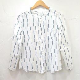 ノーカラープリントシャツ(ウィメンズ)
