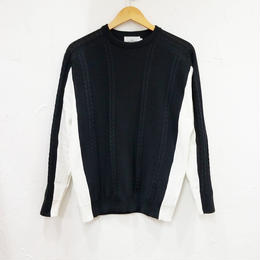 Liss リス switch cable pullover knit (メンズ)