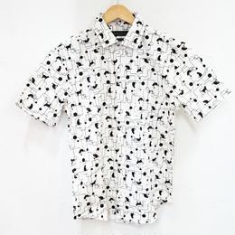 オックスネコプリントRGシャツ
