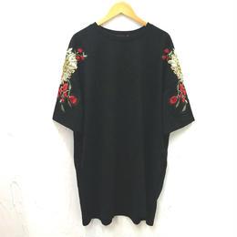 袖刺繍カットソーワンピース