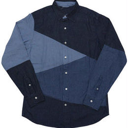 6.5ozデニムブロッキングRGシャツ(メンズ)