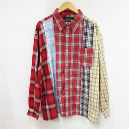 5カットチェックオーバーシャツ