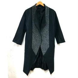 切り替えデザイン ちび襟コート