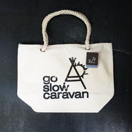 go slow caravan ゴースローキャラバン  キャンバス ロープハンドル トートバッグ