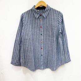 ストライプデザインシャツ(レディース)