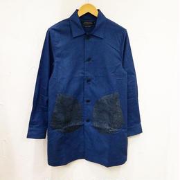 ヤシの木ジャガード切り替えシャツコート(メンズ)