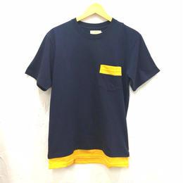 JOEY FACTORY 裾メッシュ切り替えポケットTシャツ(ユニセックス)