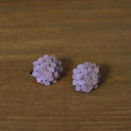 イヤリング/ピアス あじさい 薄紫 両耳
