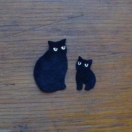 動物ワッペン(ポーチ用) 親子猫 《単品購入はできません》